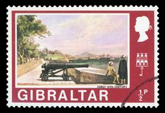 GIBRALTAR - Znaczek pocztowy zdjęcia stock