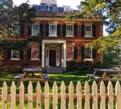 Gibson House Museum i norr York, Ontario arkivbild