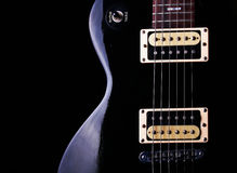 Gibson Les Paul. A beautiful black gibson les paul guitar Royalty Free Stock Images