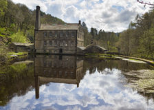 Gibson Mill in Hardcastle Crags nature park, Stock Photo