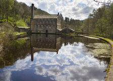 Gibson Mill in Hardcastle Crags nature park, Royalty Free Stock Photos