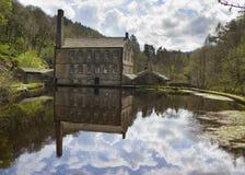 Gibson Mill in Hardcastle-het park van de Steile rotsenaard, Stock Foto