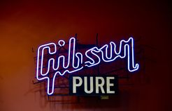 Gibson Pure Guitar Company. Gibson Guitar Corporation is an American maker of guitars and other instruments, now based in Nashville, Tennessee. Orville Gibson Stock Image