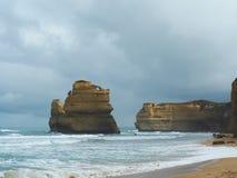 Gibson Steps - gran camino del océano fotos de archivo