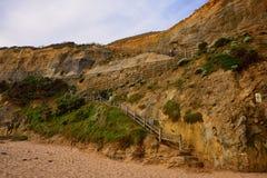 Gibson Steps lungo la grande strada dell'oceano fotografie stock libere da diritti