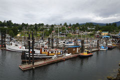 Gibsons Harbor Marina, British Columbia Royalty Free Stock Image