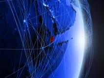 Gibuti su terra digitale blu blu immagini stock libere da diritti