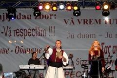 Gica Coada and Elena Gheorghe singing Stock Photography