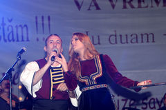 Gica Coada and Elena Gheorghe singing Stock Photo