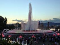 Gica de Montjuic, fontaine de ¡ de mà de Fuente à Barcelone Image libre de droits