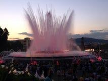 Gica de Montjuic, fontaine de ¡ de mà de Fuente à Barcelone Images stock