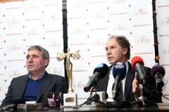 Gica Hagi awarded Franco Baresi Stock Image