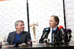 Gica Hagi awarded Franco Baresi Stock Photography