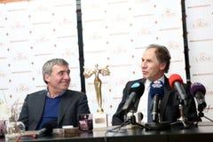 Gica Hagi awarded Franco Baresi Stock Photography