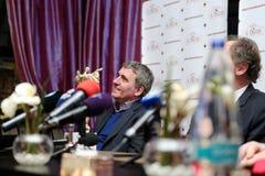 Gica Hagi awarded Franco Baresi Royalty Free Stock Photos