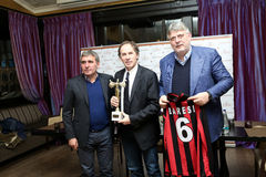 Gica Hagi awarded Franco Baresi Royalty Free Stock Images
