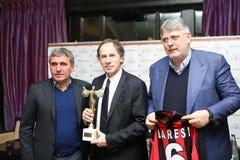 Gica Hagi awarded Franco Baresi Royalty Free Stock Photo