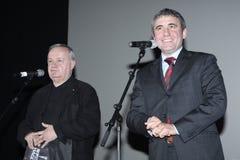 Gica Hagi and Cristian Topescu Stock Images