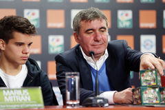 Gica Hagi and Ianis Hagi, father and son Royalty Free Stock Images