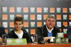 Gica Hagi and Ianis Hagi, father and son Royalty Free Stock Image