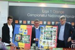 Gica Hagi and Ianis Hagi, father and son Stock Image
