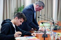 Gica Hagi and Ianis Hagi, father and son Royalty Free Stock Photo
