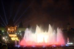 gica M för barcelona stilsortsspringbrunnar Arkivfoto