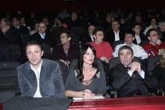 Gica Popescu, Nadia Comaneci and Gica Hagi Royalty Free Stock Photos