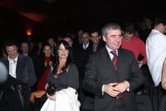 Gica Popescu, Nadia Comaneci and Gica Hagi Royalty Free Stock Photography