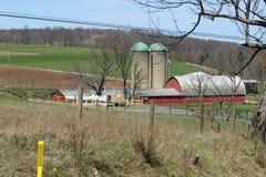 Gichtventile und Bauernhof Lizenzfreie Stockfotografie