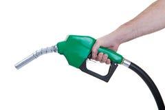 Gicleur d'essence vert photographie stock libre de droits
