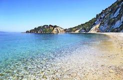 Gidaki plaża w Ithaca wyspie obraz royalty free