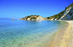 Gidaki plaża w Ithaca Grecja Zdjęcia Royalty Free