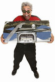 Giddy Man with Boom Box Royalty Free Stock Photography