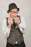 Giddy Man Drinking Stock Image