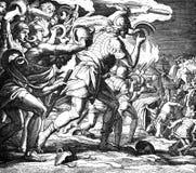 Gideon Defeats el Midianites Foto de archivo libre de regalías