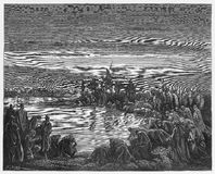 Gideon que elige a sus soldados ilustración del vector