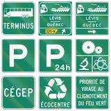 Gidsverkeersteken in Quebec - Canada Stock Foto's