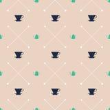 Gießen Sie über Dripper-und Kessel-Muster - Farbausgabe Lizenzfreies Stockbild