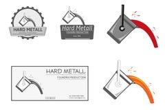 Gießerei-Produktions-Logo Stockfotos