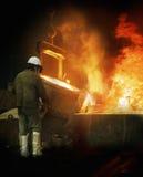 Gießereiarbeiter Lizenzfreie Stockfotografie