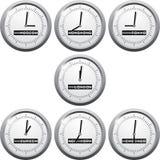 Giełda Papierów Wartościowych czas w financional centrach Zdjęcia Royalty Free