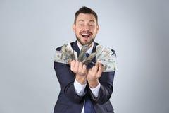 Giełda Papierów Wartościowych makler z pieniądze Fotografia Stock