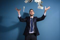 Giełda Papierów Wartościowych makler z pieniądze Obrazy Royalty Free