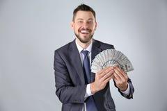 Giełda Papierów Wartościowych makler z pieniądze Zdjęcie Stock