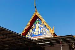 Giebel des Tempels in Thailand morgens stockbilder