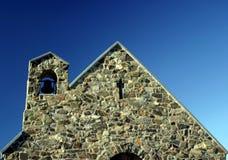 Giebelende der Steinkirche Stockbilder