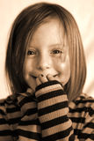 Giecheel & glimlach Royalty-vrije Stock Afbeelding