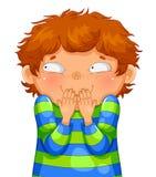 Giechelende jongen Stock Afbeelding