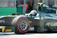 Giedo Van Der Garde участвуя в гонке на GP 2012 Сингапур Стоковое фото RF